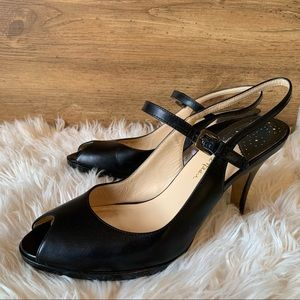 COLE HAAN | NIKE | black leather pumps size 10.5